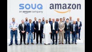 """محمد بن راشد يزور مركز الشحن الجديد لشركة """"سوق دوت كوم"""" في دبي"""