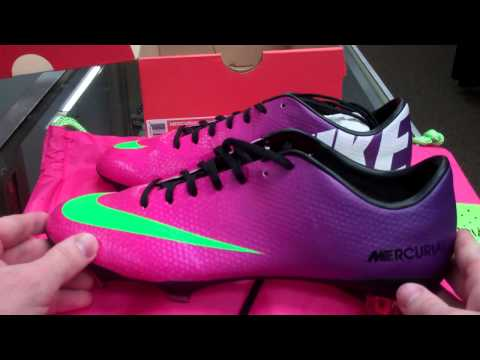 Nike Mercurial Vapor IX Fireberry/Electric Green/Red Plum Unboxing