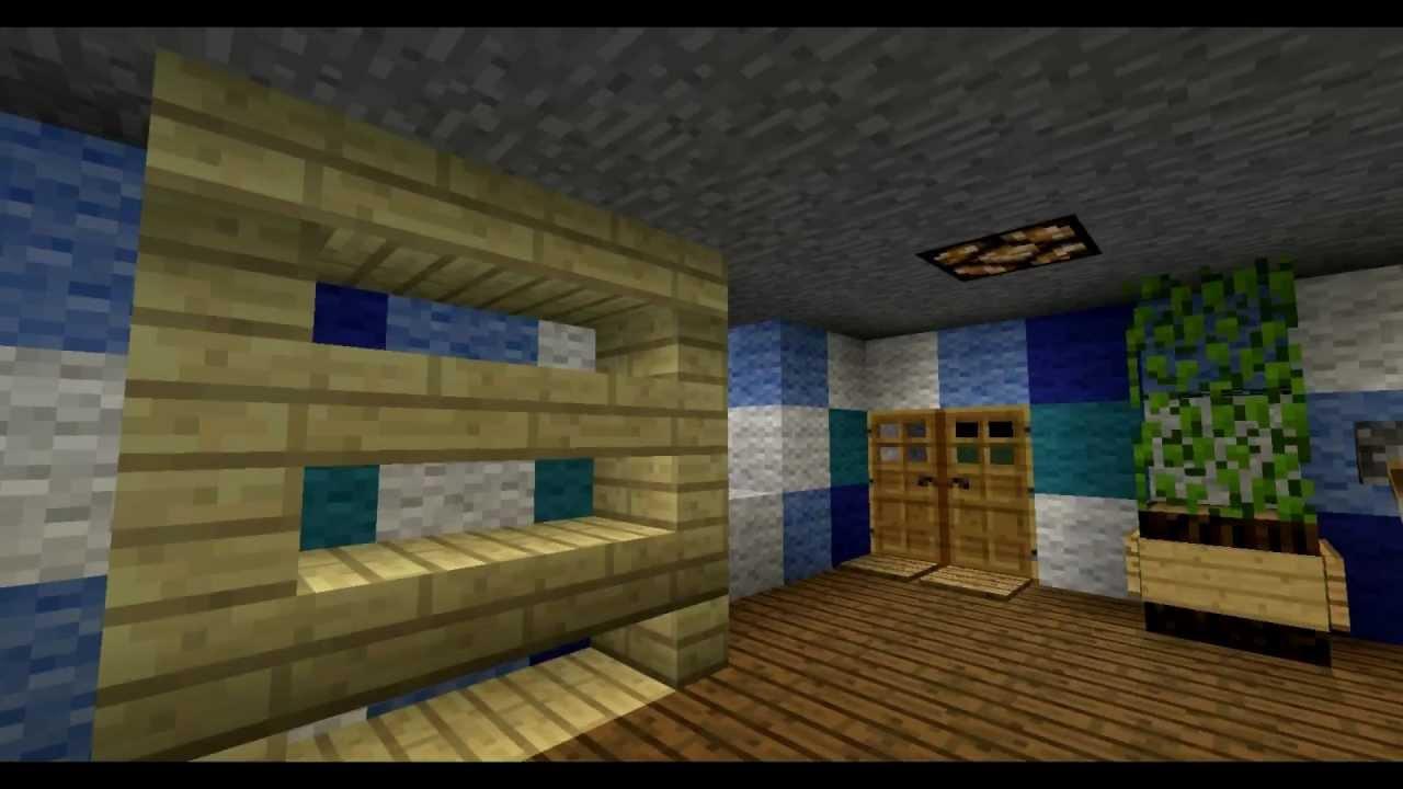 Minecraft - Modernes Badezimmer mit Redstone - YouTube