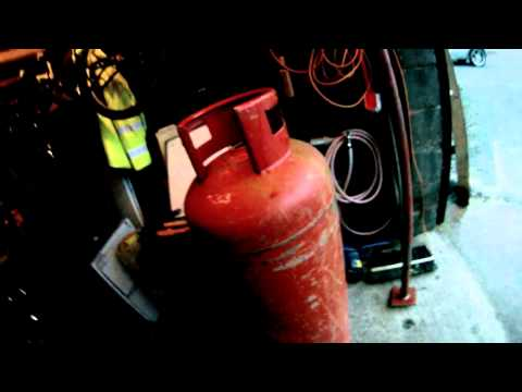 Propane tank Rocket Stove Heater project - part 2 the basic shell