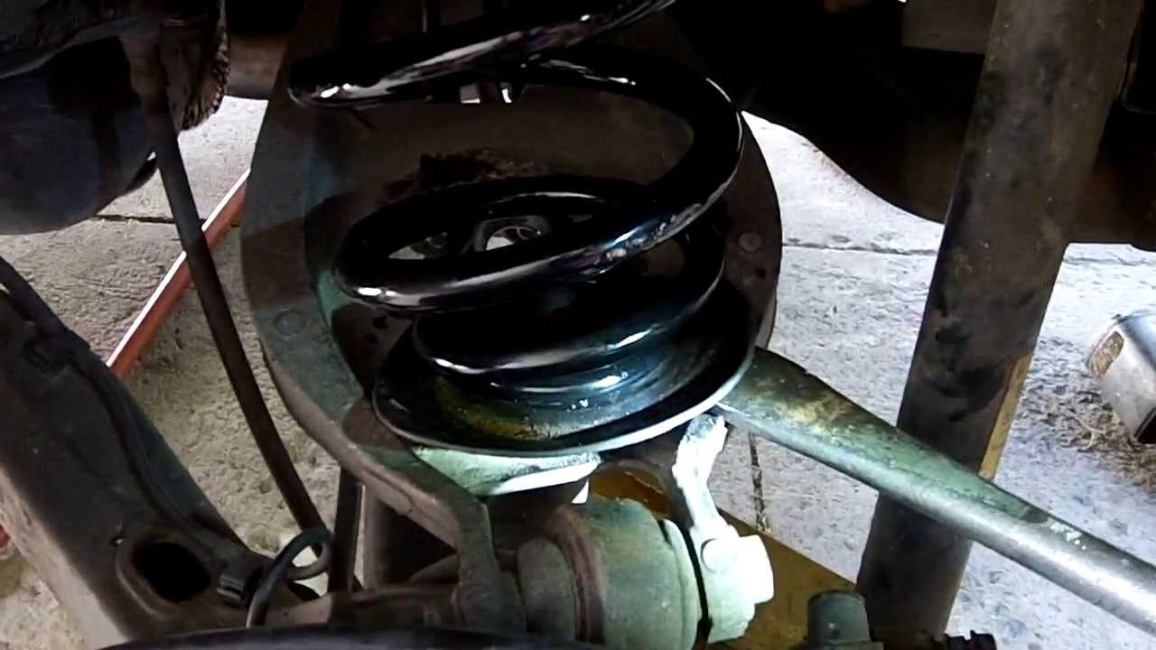 Diy How To Change Rear Springs On Car Youtube