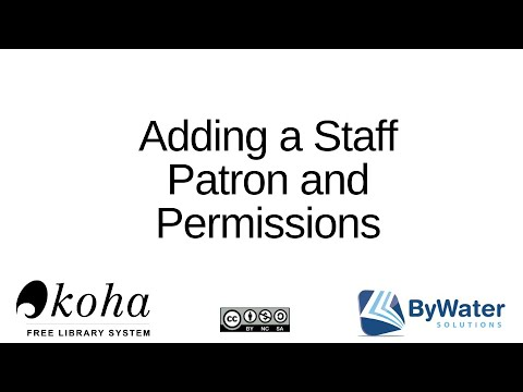 Adding a Staff Patron and permissions