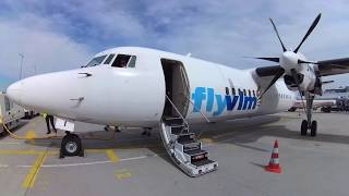 Fokker 50 - Flemish Prop Power from Munich to Antwerp in 4k