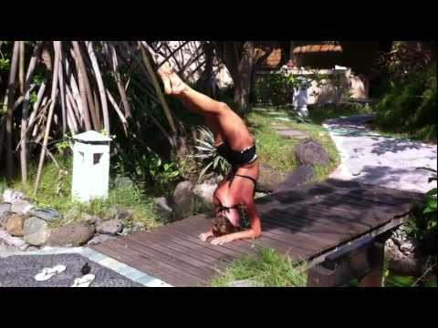 Advanced Yoga Demo In Bali With Dashama video