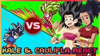 Kale and Caulifla React to Goku VS Kefla (Dragon Ball Super - Sprite Animation)