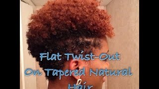 How To: Flat Twist-Out on Tapered Natural Hair