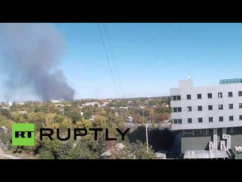 Ukraine: The battle for Donetsk Airport fills skies with smoke