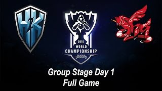 H2K vs AHQ | Group Stage Day 1 | World Championship 2016 League of Legends