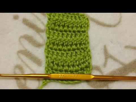 2. Вязание крючком. Столбик с накидом.
