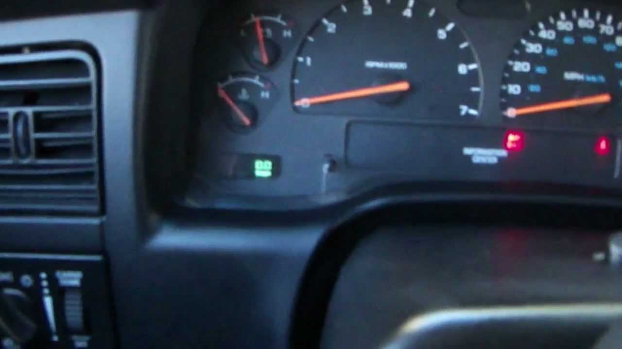 how to reset dodge caravan oil change light