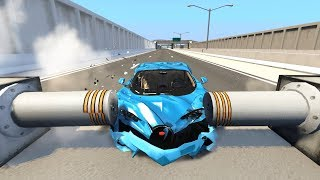 Satisfying Car Crashes Compilation #8 Beamng Drive (Car Shredding Experiments)