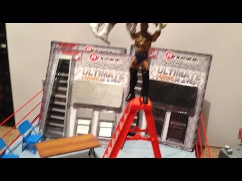 Ultimate Table and Ladder Playset RSC exclusive grapple gear wrestling figure accessory review