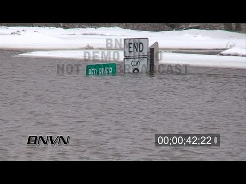 3/25/2009 Oxbow, North Dakota Flooding - Part 1 stock video