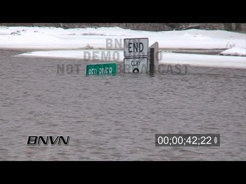 3/25/2009 Oxbow, North Dakota Flooding - Part 1 stock video