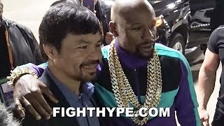(EPIC!) MAYWEATHER AND PACQUIAO REUNITE, TAKE PIC AFTER SPENCE DOMINATES GARCIA & CALLS OUT MANNY