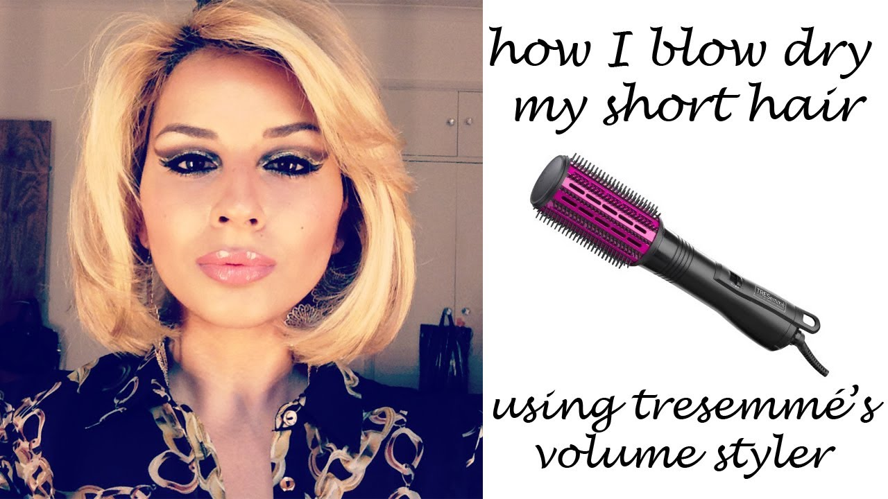 How I Blowdry My Short Hair Using The Tresemme Volume
