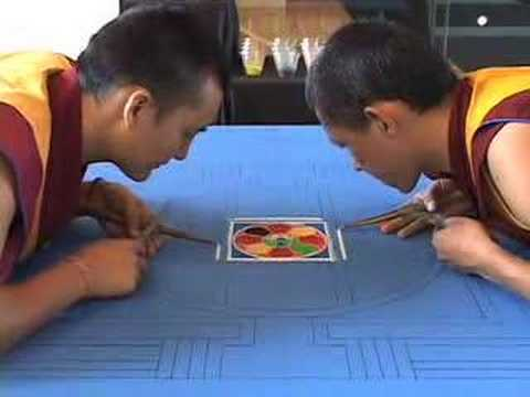 Namgyal Monks create mandala Music Videos