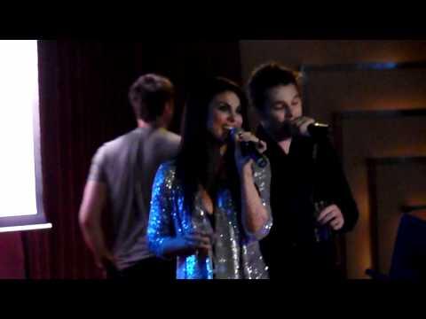 Mark Hapka and Nadia Bjorlin Singing 'Cruisin' at the Soap Cruise 2011