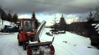 Tracteur Agria 4800 avec fraise à neige