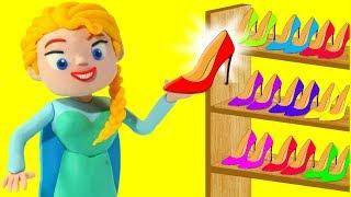 FROZEN ELSA NEW SHOES ❤ Spiderman, Hulk & Frozen Elsa Play Doh Cartoons For Kids