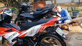 2 thanh niên chạy Winner, Exciter150 có sở thích rửa xe ké cho đến khi bị đòi tiền điện nước