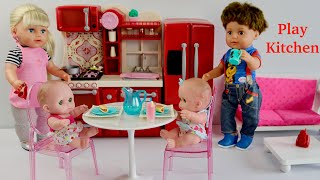 Baby Doll Play Kitchen Cooking Food Kitchen Play & Nursery Rhymes Children's songs