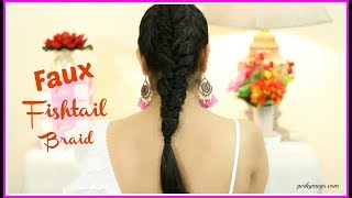 Faux Fishtail Braid Tutorial | Lazy Girl Summer Hairstyle | Perkymegs