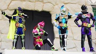 エグゼイドショー 【主題歌Exciteダンス演舞(ゲンム・エグゼイド・ブレイブ・スナイプ)】@よみうりランド ☆ Kamen Rider Ex-Aid(仮面ライダーショー)