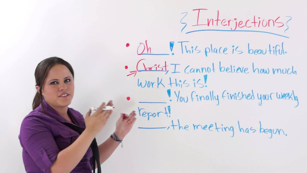 Interjection examples with pictures