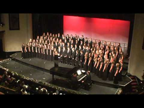 "Thomas LaVoy's ""Alleluia"" Performed by the Marquette Senior High School Redmen Chorale"
