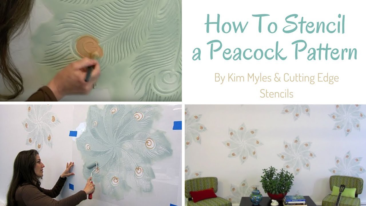 How To Stencil Peacock Stencil By Kim Myles Amp Cutting