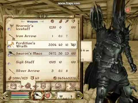 Oblivion Weapons And Armor Oblivion Saurons Armor Mod