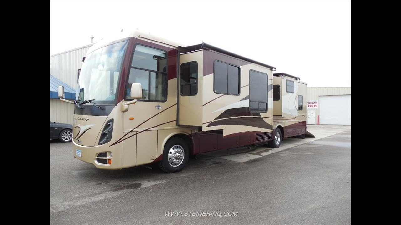 2008 newmar all star 4257 diesel toy hauler used rvs for for Used diesel motor homes