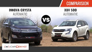 Toyota INNOVA CRYSTA Automatic vs XUV 500 Automatic | Comparison