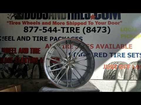 DUBSandTIRES.com 22 Inch MRR GT3 Silver Machined Lip Wheels Rims