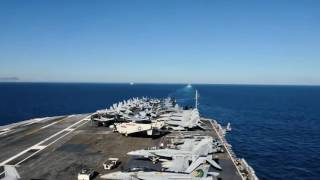 USS Dwight D  Eisenhower Strait of Gibraltar Transit Timelapse: June 13, 2016