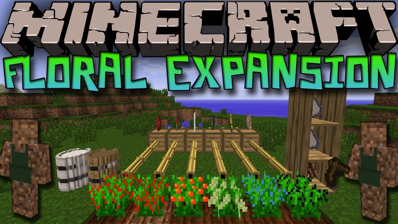 Minecraft mod floral expansion mod aprons crates shelves amp more