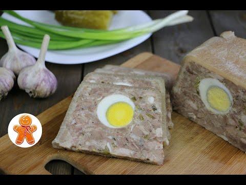 Как приготовить свиной сальтисон - видео