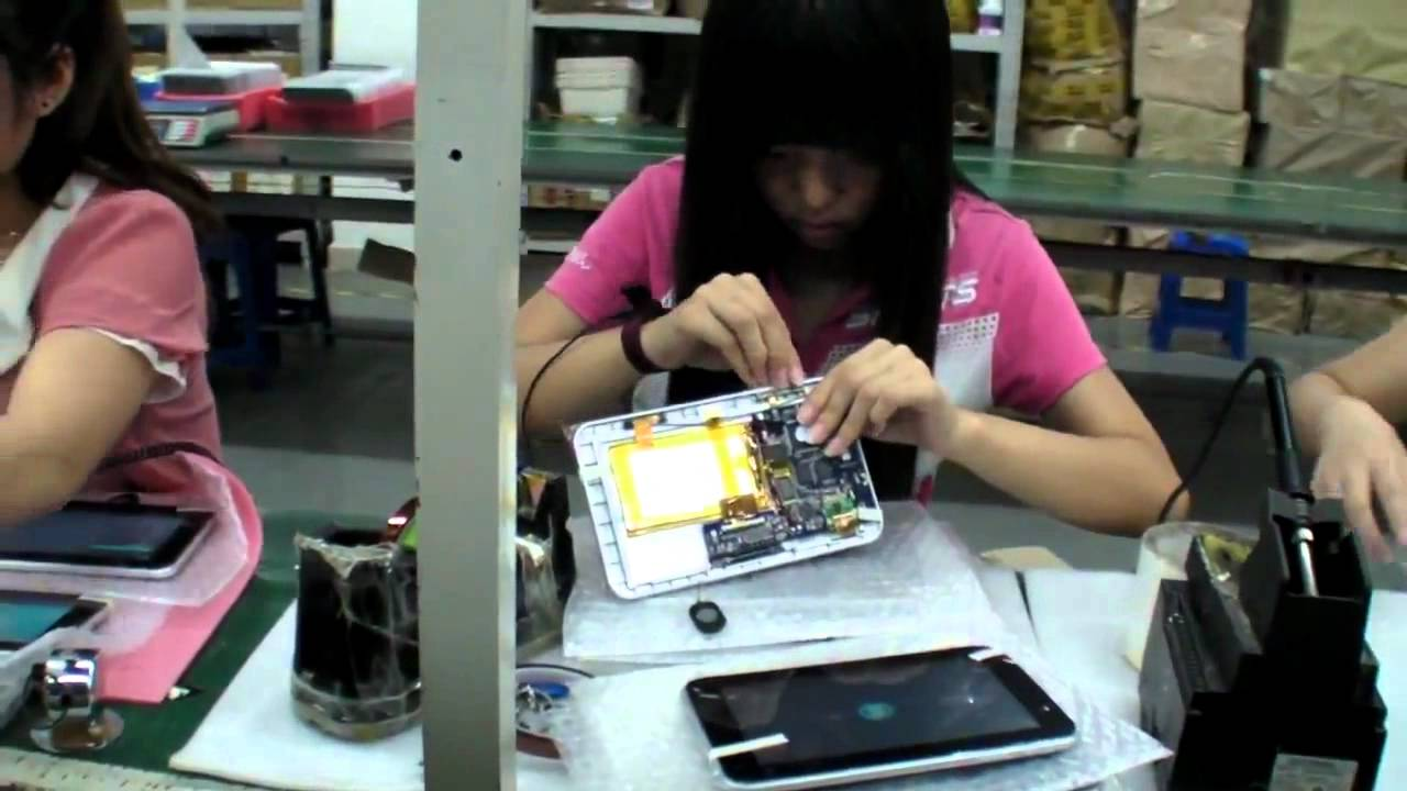 Assembling Android Tablet Factory Tour in China ( This is how your tablet is made ) - YouTube