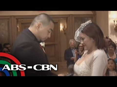 Ai Ai, Jed exchange wedding vows