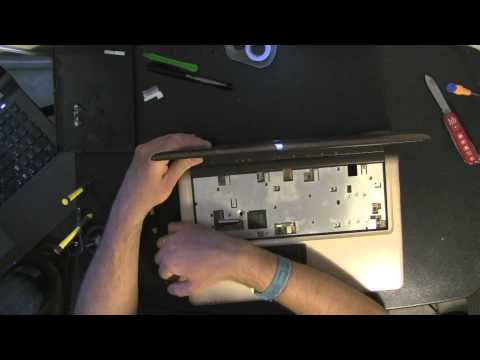 ASUS X83V laptop take apart video. disassemble. how to open. video disassembly