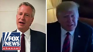 Trump, de Blasio battle it out in dueling videos