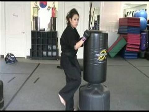 Cardio Kickboxing Exercises & Tips : How to Use Your Knees in Cardio Kickboxing Image 1
