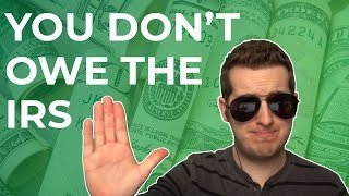 IRS Tax Scam Explained - You're Not Under Arrest