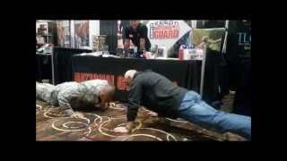 70 year old Body Builder wins National Guard's challenge!