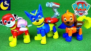 Paw Patrol Super Heroes Pups MIX and MATCH Toys! Chase Marshall Apollo Funny Toy Video for Kids!