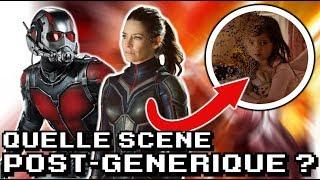 QUEL serai la SCÈNE POST- GÉNÉRIQUE du film ANT-MAN et la GUÊPE ?