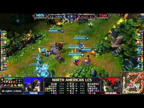 Team MRN (MRN) vs Team Solo Mid (TSM) - League of Legends LCS 2013 NA Spring