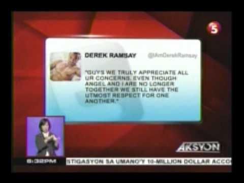 Derek Ramsay, kinumpirma sa twitter na break ba sila ni Angelica Panganiban