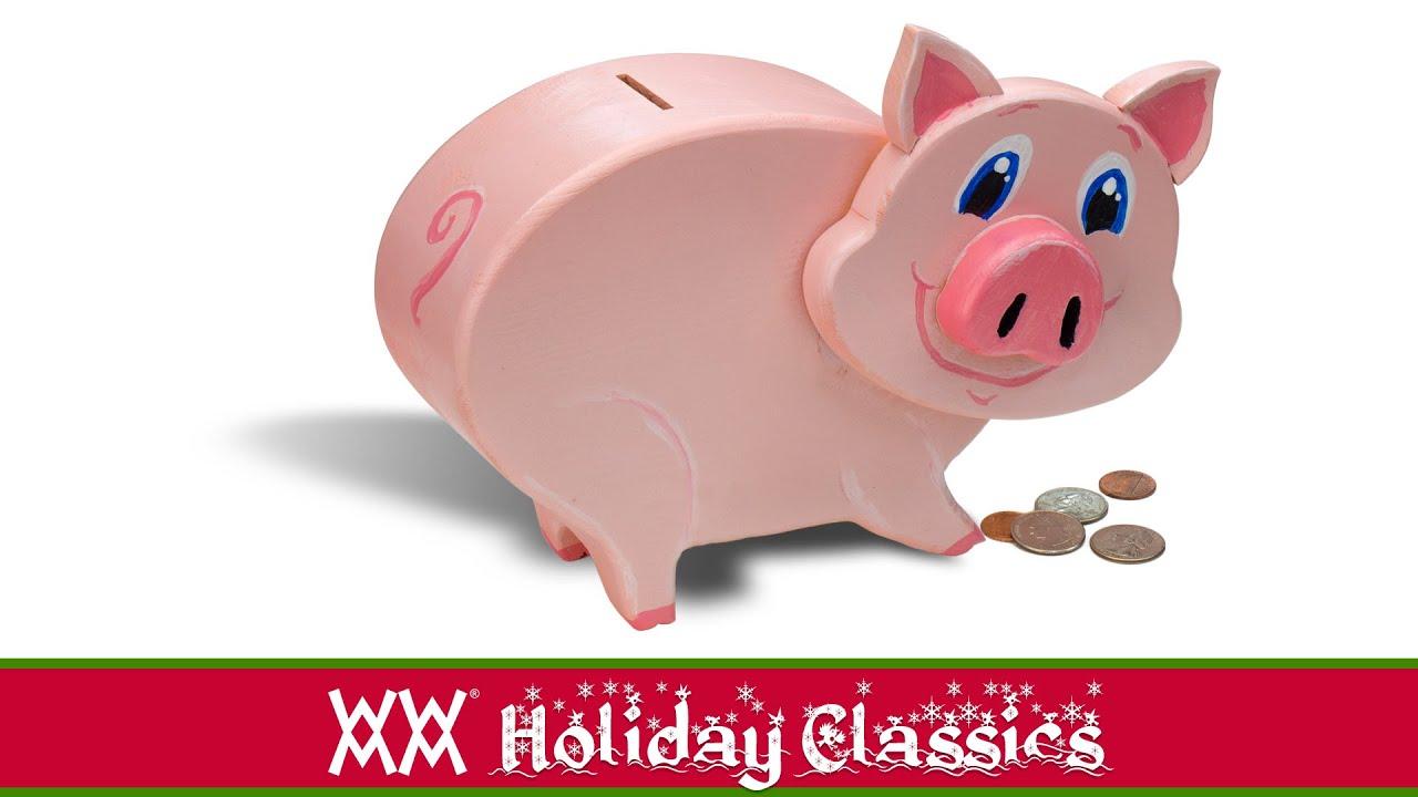Make a wooden piggy bank youtube for Make your own piggy bank